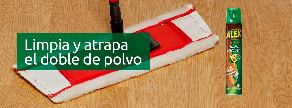 Para una limpieza diaria, fácil y rápida de los suelos de madera, es muy útil utilizar productos antiestáticos para el polvo.